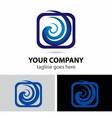 Spiral swirl in square rectangular logo element vector