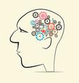 Cogs - gears in human head vector