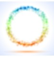 Circle frame with color sparks vector