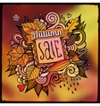 Decorative autumn sale blurred background vector