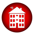 Apartment house button vector