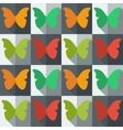 Flat style seamless pattern with butterflies vector