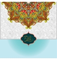 Islamic vintage floral pattern template frame for vector