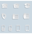 Paper phone icons vector