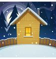 Winter house vector