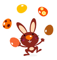 Cute jumping bunny vector
