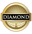Diamond gold label vector