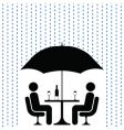 Cocktails in rain vector