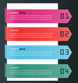 Background number options banner card vector