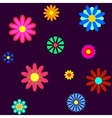 Seamless ladybugs and flowers vector