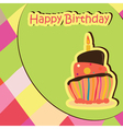 Colorful birthday card with cake vector
