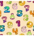 Set of figures numbers with eyes and hands vector