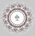 Spades 3d background vector