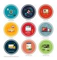 Icons for web design seo social media vector