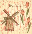 Tulipl windmill vector