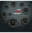 Sound load speakers on dark background vector