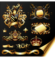 Ornamental heraldic elements vector