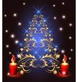 Christmas golden furtree vector
