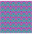 Retro circles seamless pattern vector
