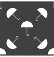 Umbrella web icon flat design seamless gray vector