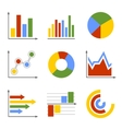 Color business graph and chart set vector