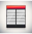 Double fridge with glass door vector