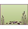 Lily and cattails background vector