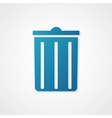 Trash can icon is blue vector
