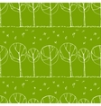 Decorative trees background vector