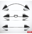 Sport symbols barbells classic arched and tied in vector