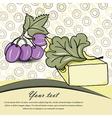 Cheese card vector
