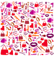 Cosmetic make up and beauty icons and background vector