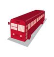 Vintage shuttle bus coach retro vector