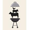 Delicious barbecue barbeque vector