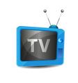 Cute retro tv vector