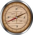 Wooden compass vector