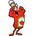 Healthy ketchup bottle vector
