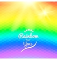 Colorful background with rainbow waves with mosaic vector