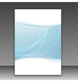 Modern folder template - bright blue lines vector
