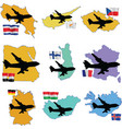 Fly me to the costa rica cyprus czech republic egy vector