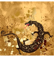 Dragon on a background grunge vector