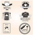 Restaurant menu vintage design elements set vector