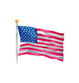 Usa flag stars and stripes low polygon vector