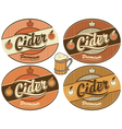 Cider label vector