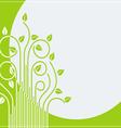 Branch green card 01 vector