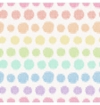 Seamless pattern with knitted polka dots textile vector