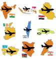 Fly me to the india indonesia iraq ireland israel vector