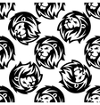 Seamless pattern of a proud lion vector