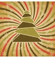 Retro christmas tree background vector