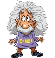 Famous scientist with wild hair vector